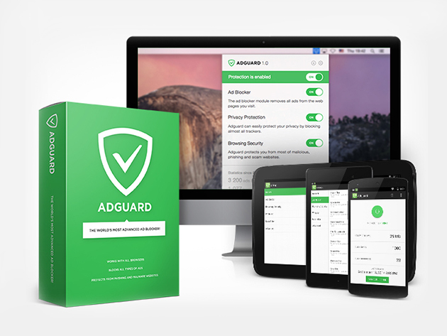 Adguard Premium: Lifetime Subscription  - Block Ads to Optimize Your Internet Experience & Protect Your Devices From Malware